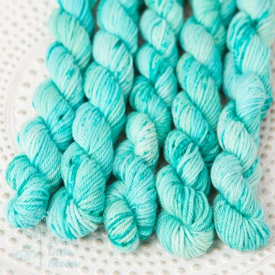 Tropical blue turqoise mini skein set in dk merino wool handdyed superwash indie dyer